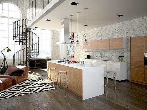 Vor- und Nachteile offener Wohnküchen - Foto: 2mmedia / fotolia.com