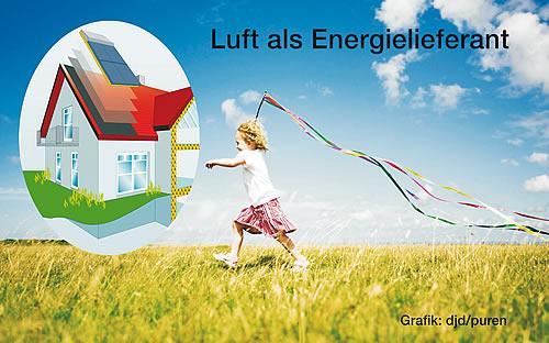 Luft und Sonne liefern kostenlose Wärmeenergie für Brauchwasser und Heizungsunterstützung - Foto: djd/puren