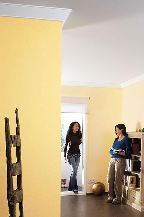 Frische Farben braucht der Herbst: Vor der kalten Jahreszeit sollte man die Gelegenheit für eine Neugestaltung der eigenen vier Wände nutzen. - Foto: djd / Knauf Bauprodukte